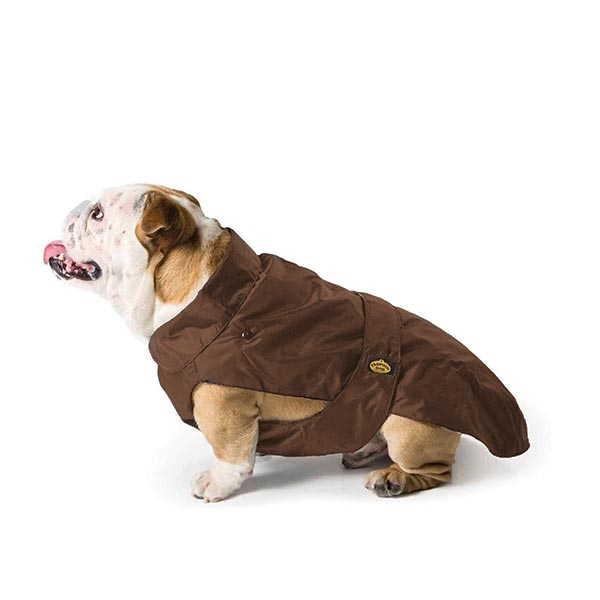 Fashion Dog - Cappotto Impermeabile con Imbottitura Staccabile Marrone per Bulldog