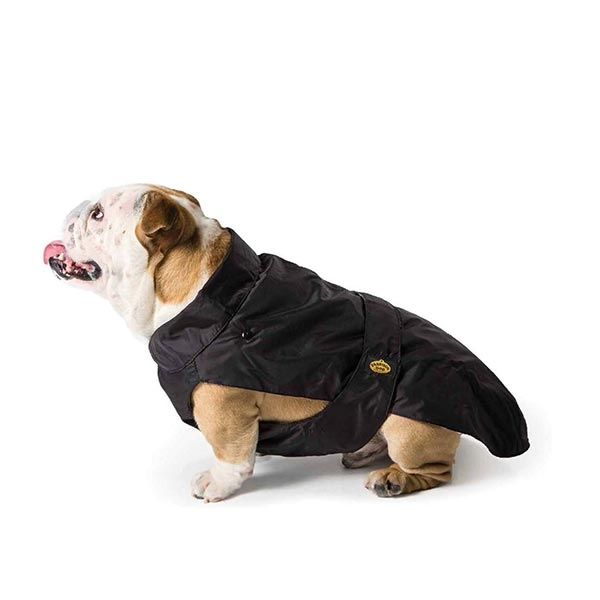 Fashion Dog - Cappotto Impermeabile con Imbottitura Staccabile Nero per Bulldog