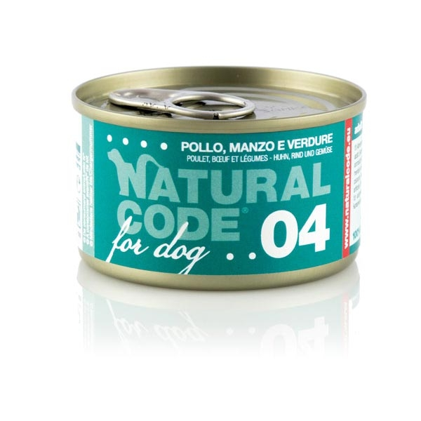 Adult Dog 04 Pollo, Manzo e Verdure - Natural Code