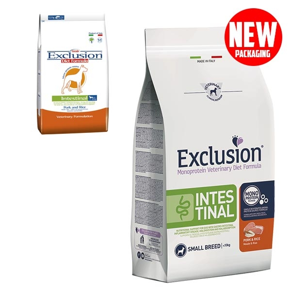 Exclusion - Diet Intestinal Small Breed Maiale e Riso