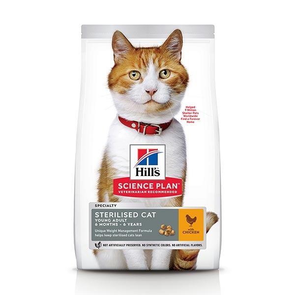 Science Plan Young Adult Sterilised Cat con Pollo - Hill's Pet Nutrition