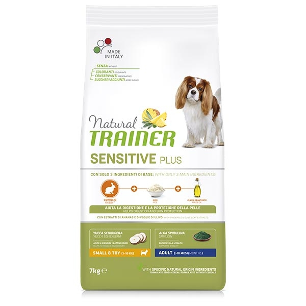 Natural Sensitive Plus No Gluten Small & Toy Adult con Coniglio - Trainer