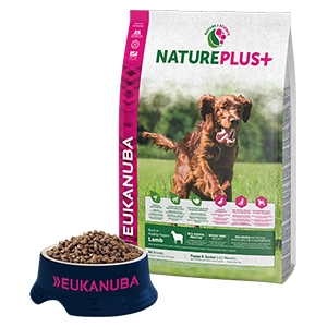 Eukanuba - NaturePlus+ Puppy & Junior Ricco di Agnello Fresco Congelato