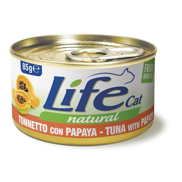 Life Cat Natural Tonnetto con Papaya - Life Pet Care