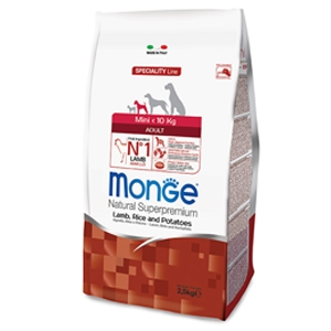 Natural Superpremium Mini Adult Agnello, Riso e Patate - Monge