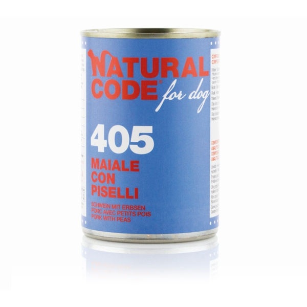 For Dog 405 Maiale con Piselli - Natural Code