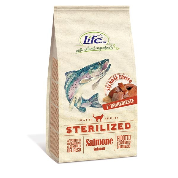 Natural Ingredients Adult Sterilized con Salmone - Life Pet Care