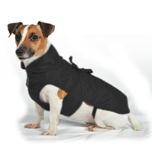 Fashion Dog - Cappotto Impermeabile con Nylon a Doppio Strato Nero