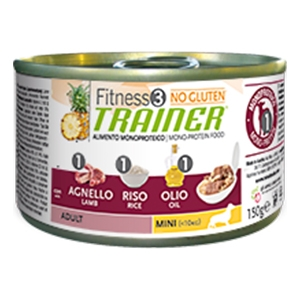 Fitness 3 No Gluten Adult Mini con Agnello, Riso e Olio - Trainer