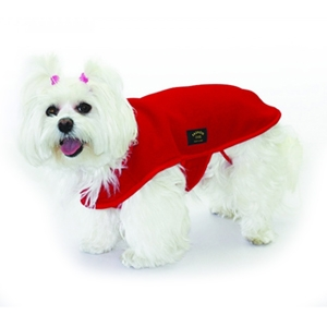 Fashion Dog Cappotto in Pile Rosso