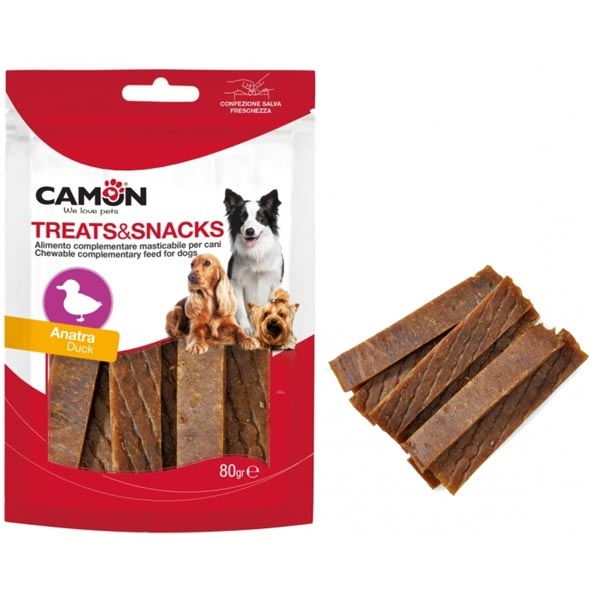 Treats Snacks Soft Anatra Strips - Camon