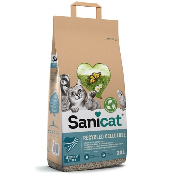 Lettiera Clean & Green Cellulosa - Sanicat