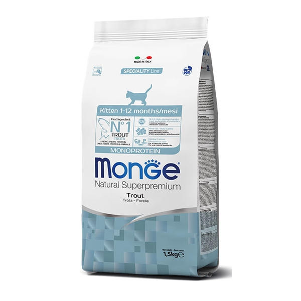 Natural Superpremium Kitten con Trota - Monge