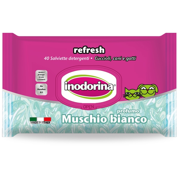 Inodorina - Salviette Refresh al Muschio Bianco