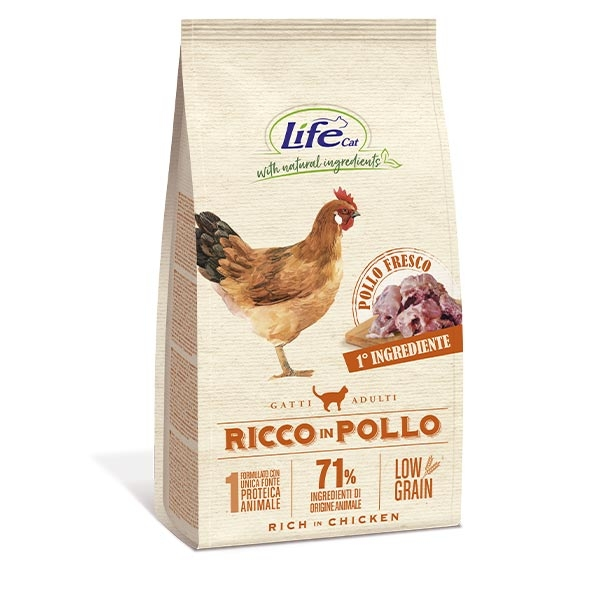 Natural Ingredients Adult Low Grain Ricco in Pollo - Life Pet Care