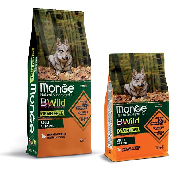 Natural Superpremium Grain Free con Anatra e Patate - All Breeds - Monge