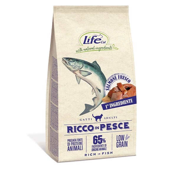Natural Ingredients Adult Low Grain Ricco in Pesce - Life Pet Care