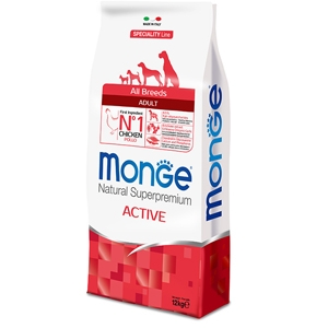 Monge - Natural Superpremium All Breeds Adult Active con Pollo