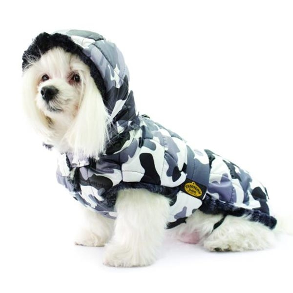 Art. 119 - Cappotto Foderato in Eco Pelliccia Mimetico - Fashion Dog