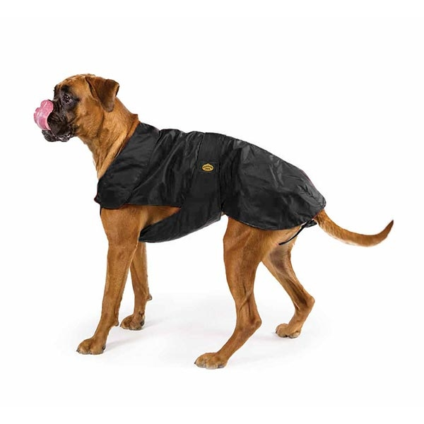 Fashion Dog - Cappotto Impermeabile con Imbottitura Staccabile Nero per Boxer