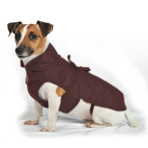 Fashion Dog - Cappotto Impermeabile con Nylon a Doppio Strato Marrone